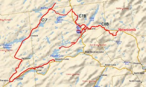 Long Lake and Raquette Lake Snowmobile Map