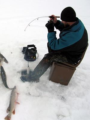 Ice Fishing Moments