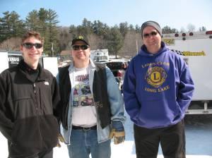 Racer Ryan Kitchen, Johnny Walker and Karl Turner